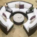 Outdoor Patio Sectional with Ottoman