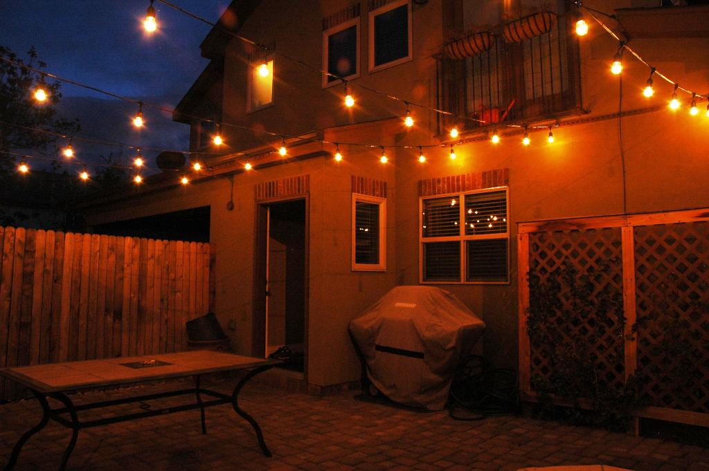 Image of: Outdoor Patio String Lights Globe