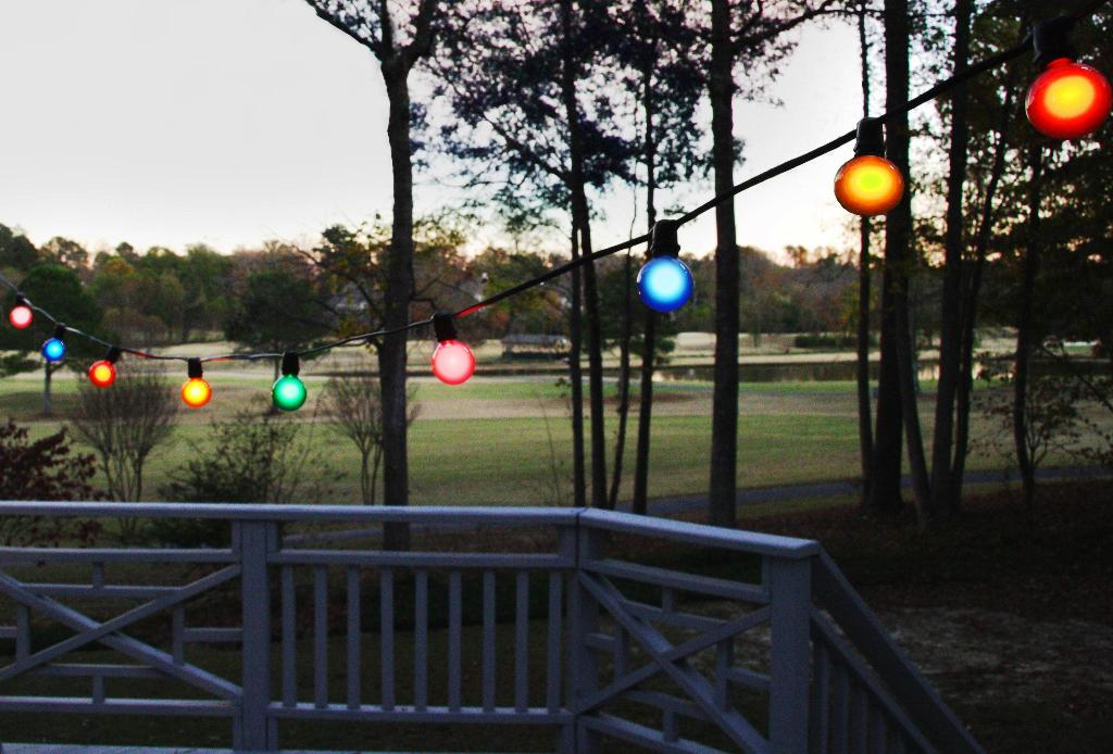 Image of: Outdoor Patio String Lights Walmart