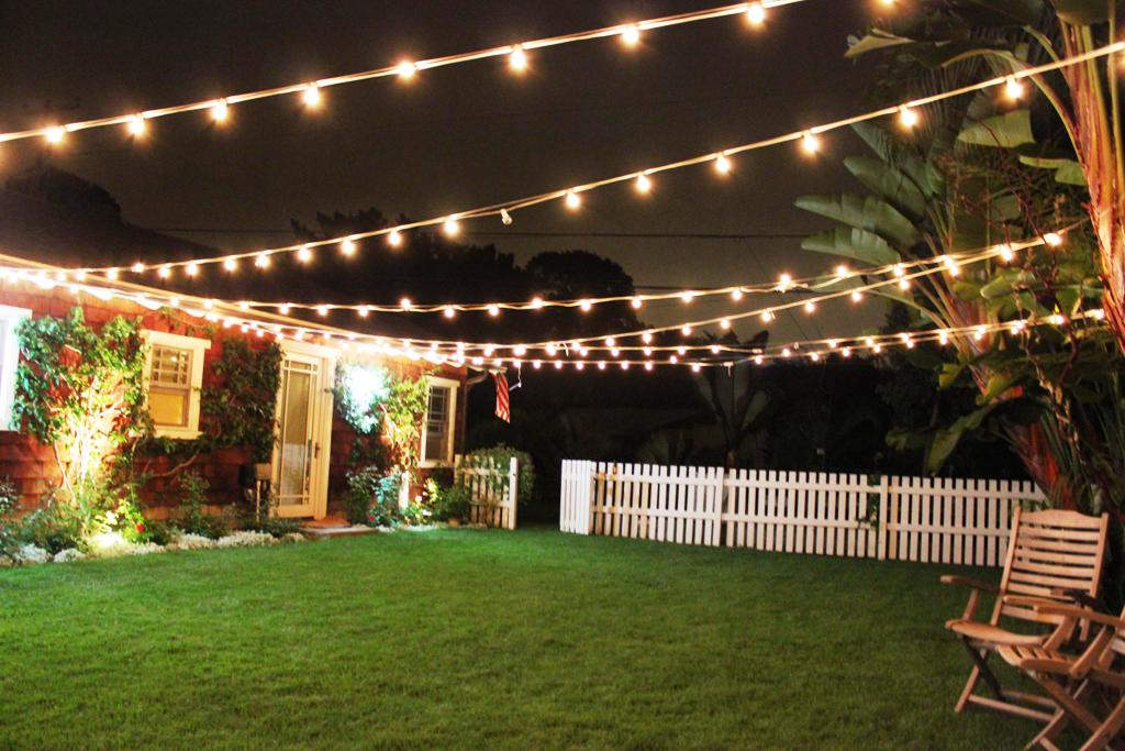 Image of: Outdoor Patio String Lights