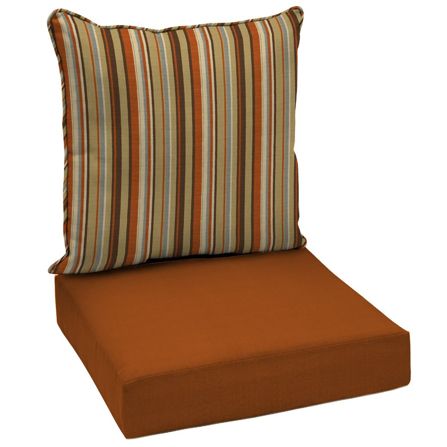 Image of: Outdoor Rocking Chair Cushions Brown Style