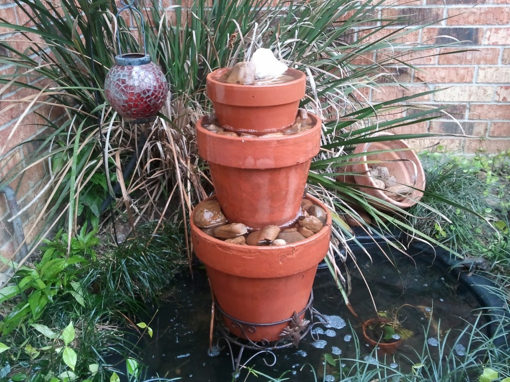 Image of: Outdoor Water Fountain Pots