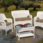 outdoor wicker chairs and ottomans