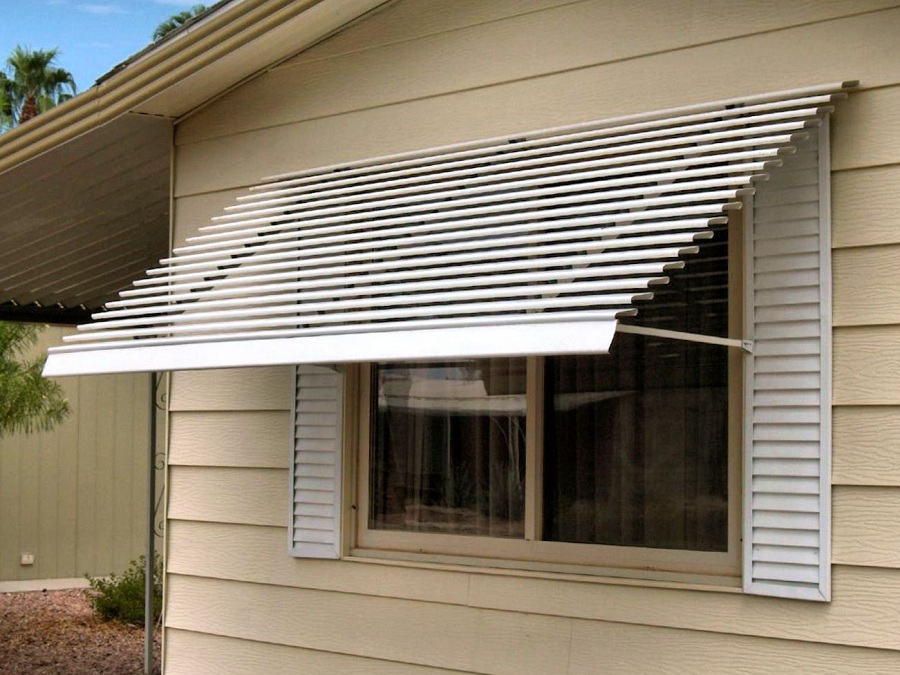 Image of: Outdoor Window Awnings for Home