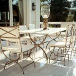outdoor wrought iron chairs