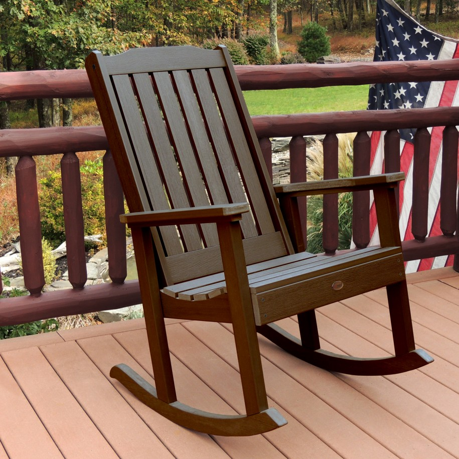Image of: Outside Rocking Chairs Brown