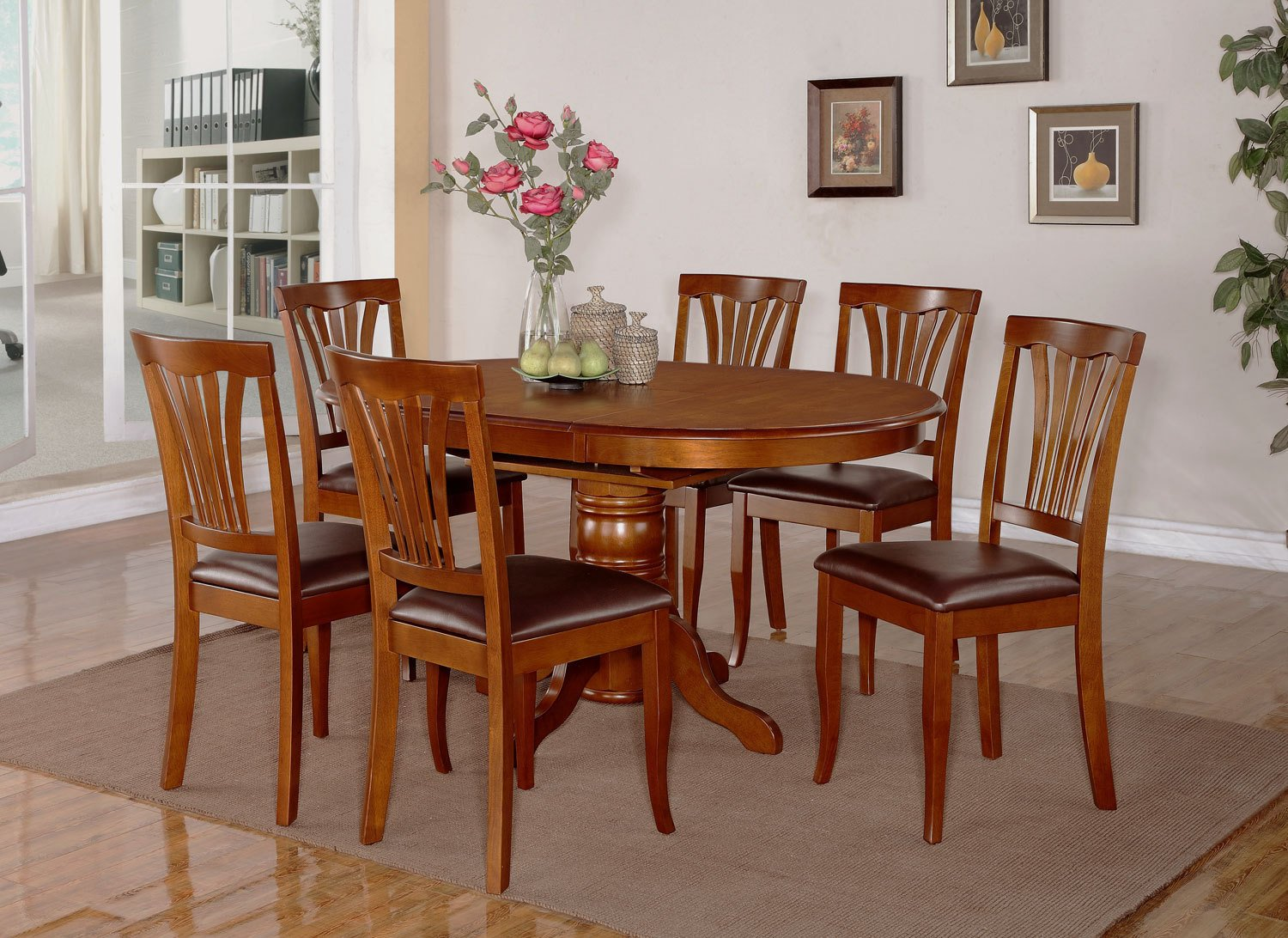Image of: oval upholstered dining chair