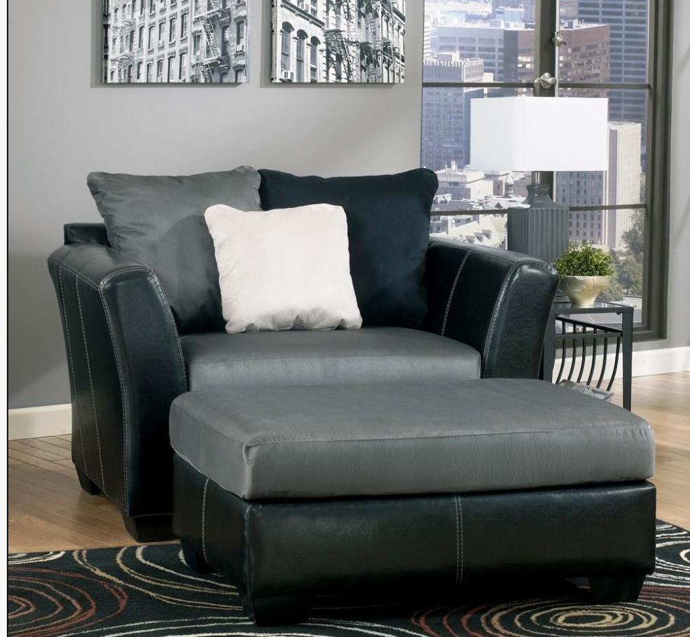 Image of: Oversized Chair And Ottoman Set
