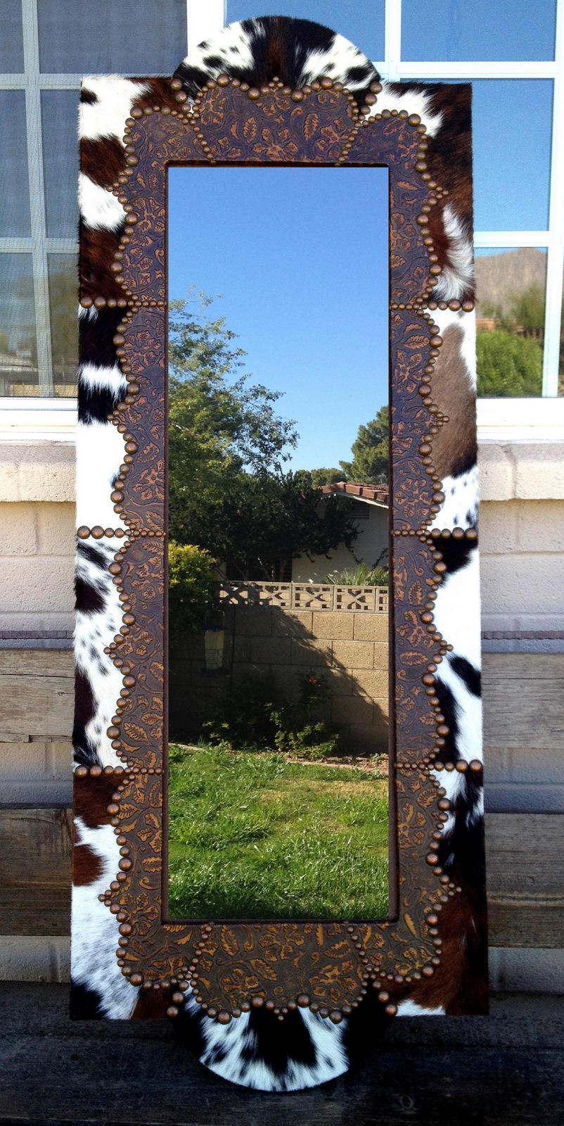 Image of: Painted Wood Frame Full Length Mirror