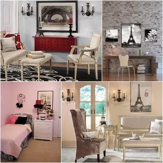 Image of: Paris Themed Bedroom Decor