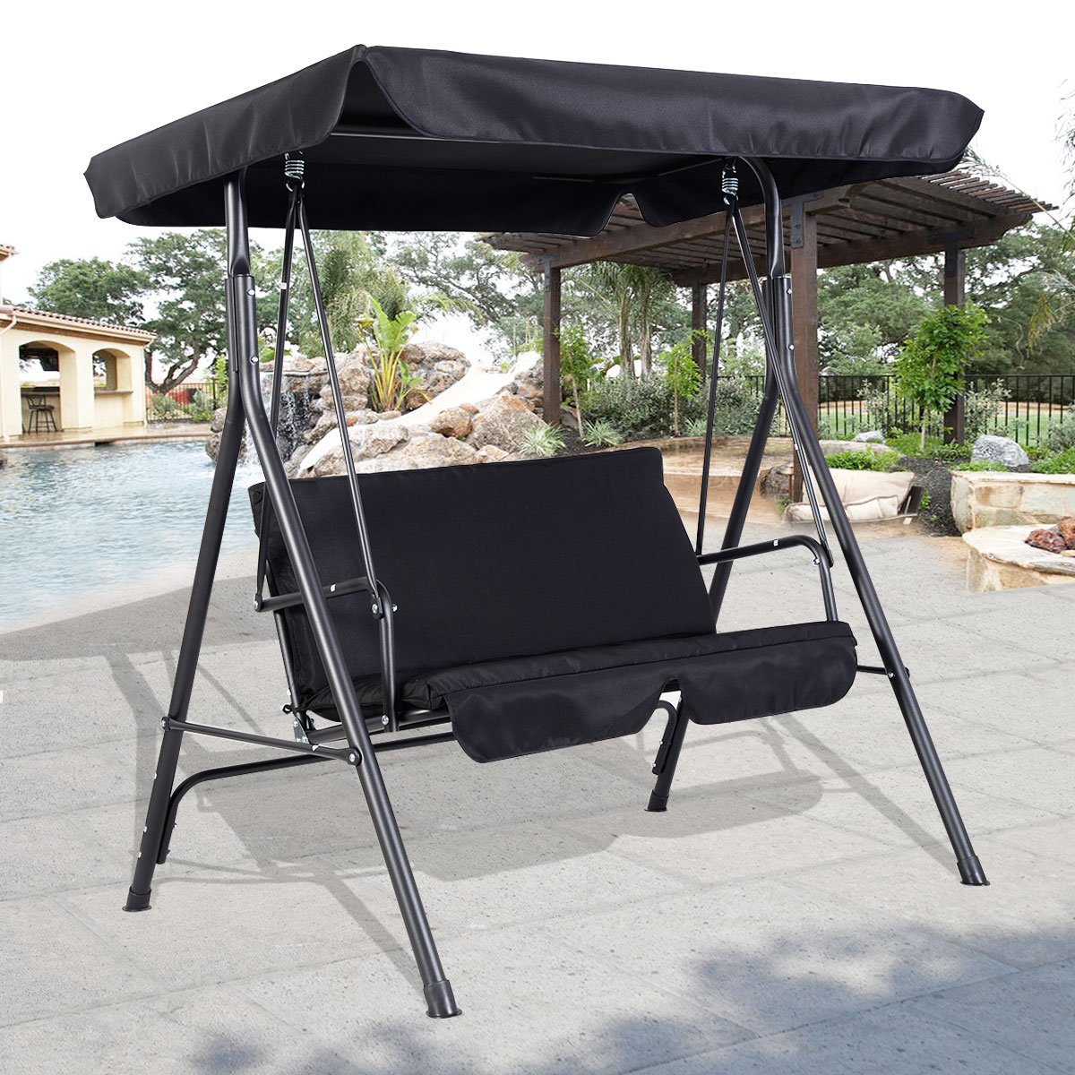 Image of: patio swing chair with canopy ideas