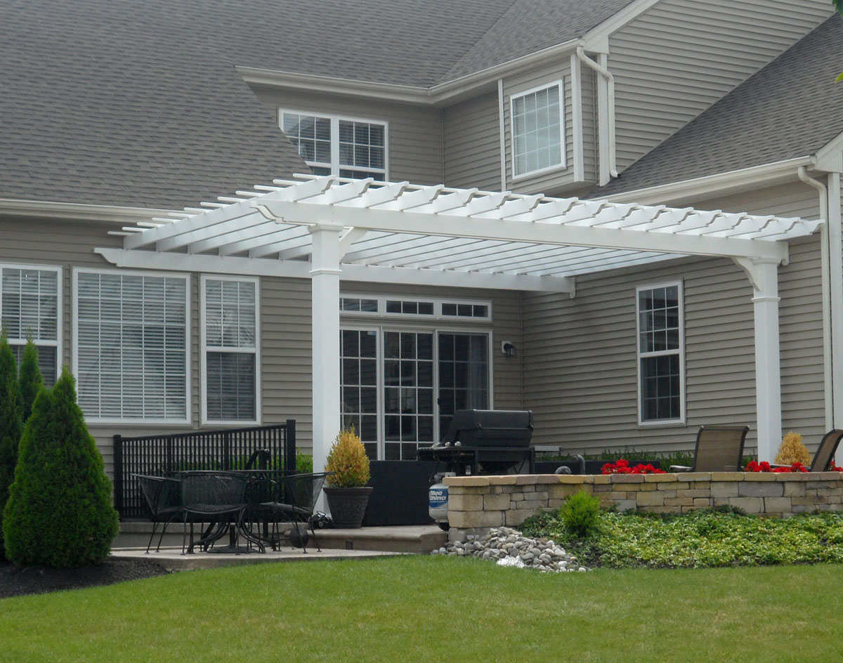 Image of: Perfect Attached Pergola Kits