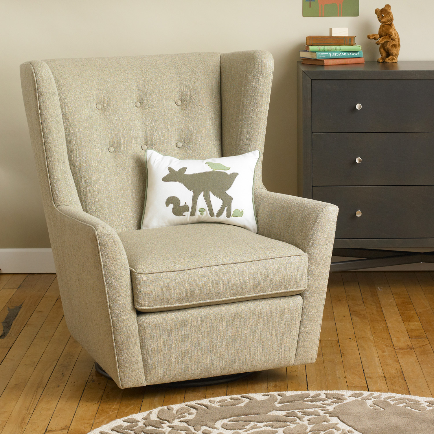 Image of: perfect nursery glider chair