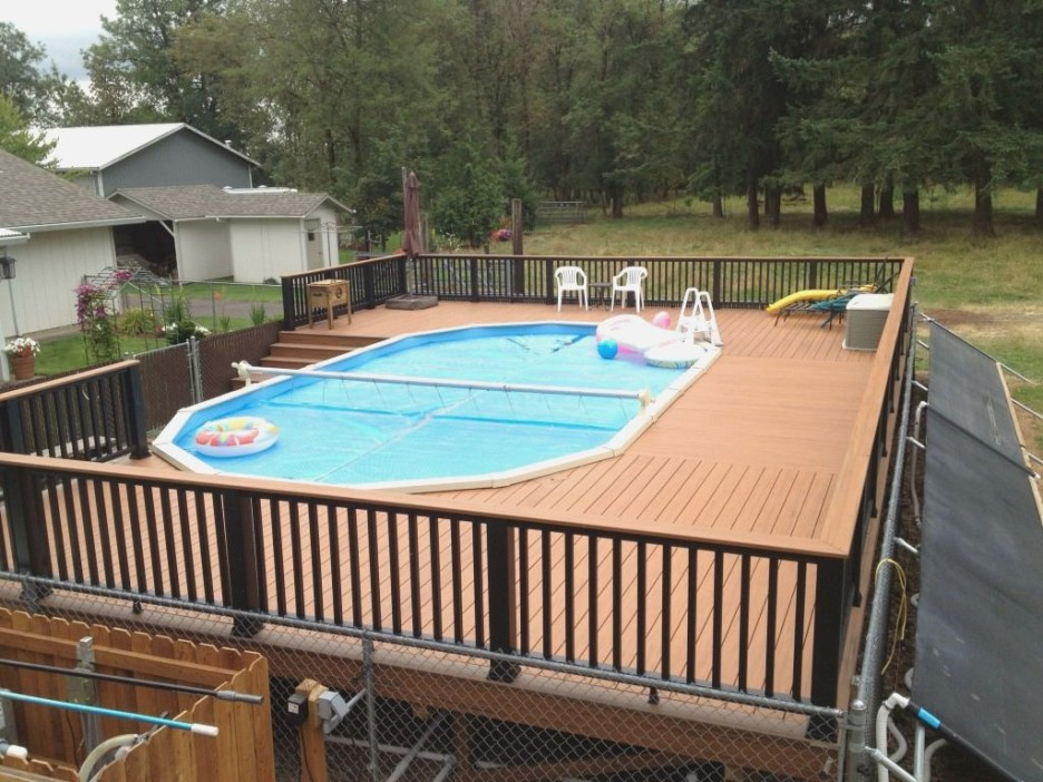 Image of: Perfect Oval Pool Decks