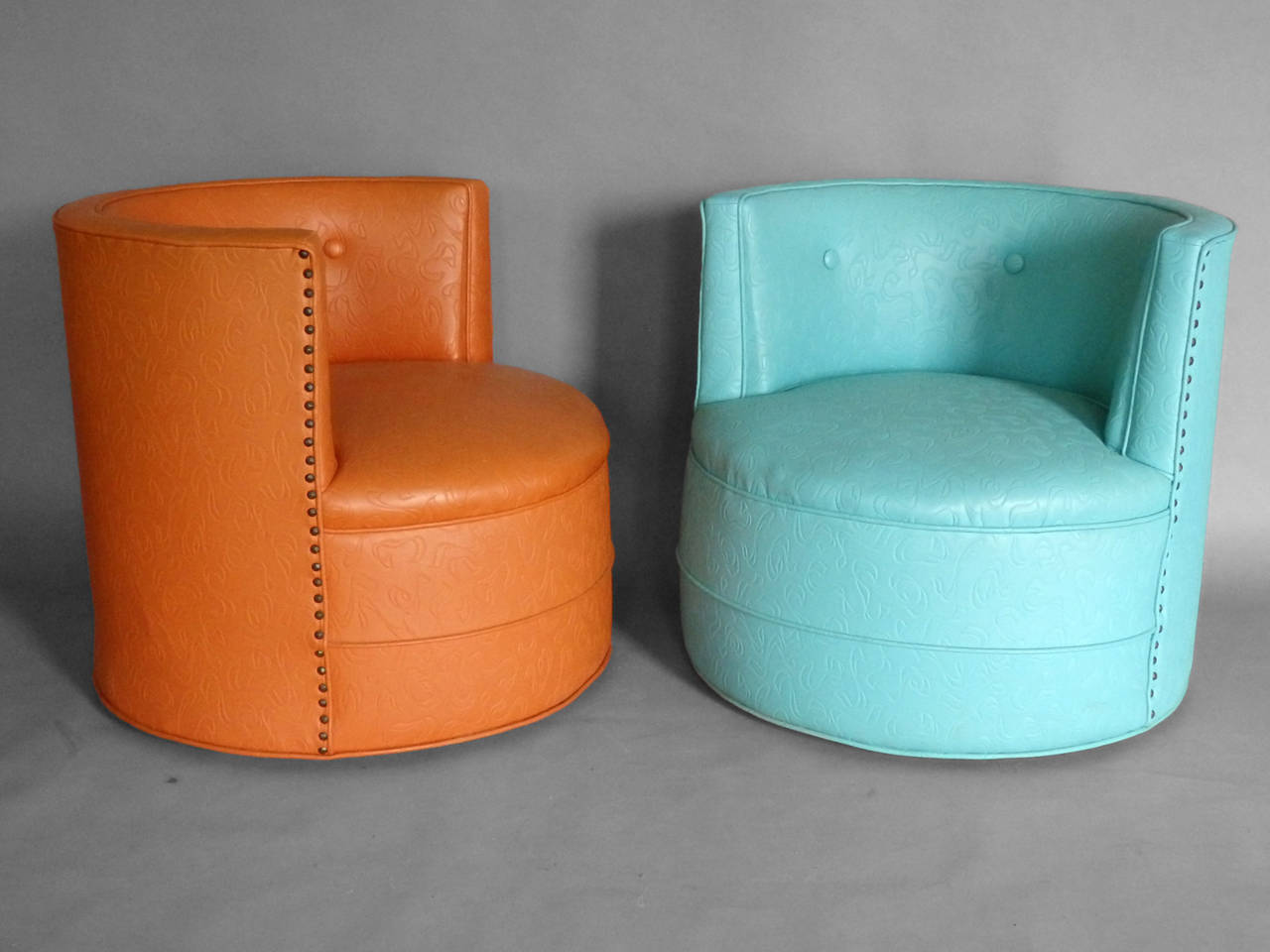 Image of: perfect swivel barrel chair