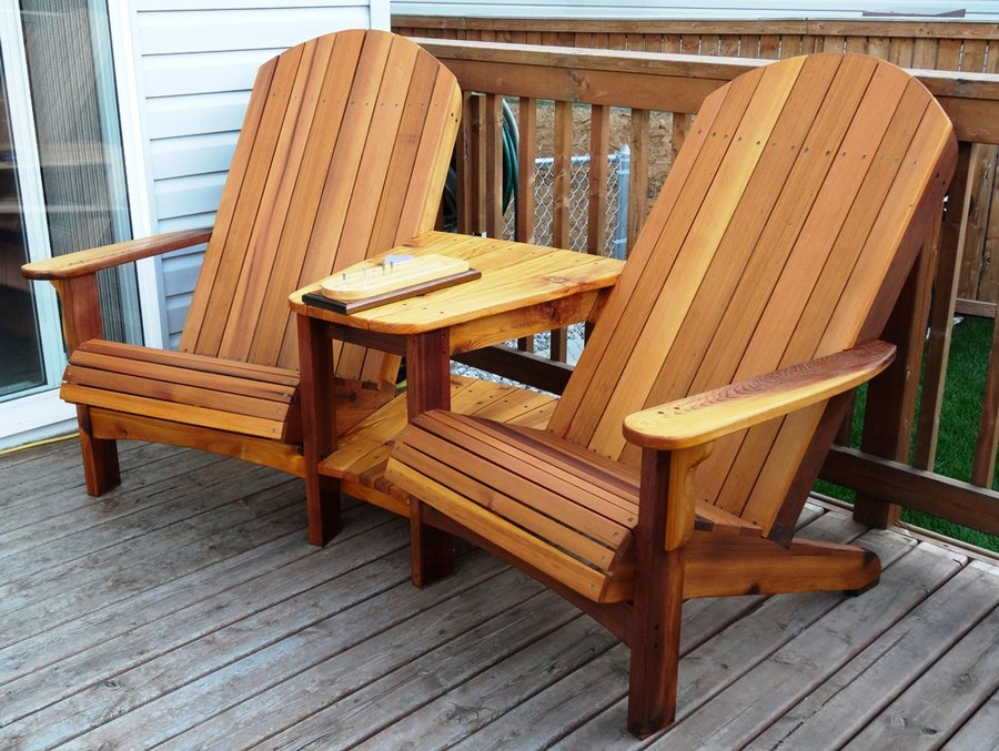 Image of: perfect wooden adirondack chairs