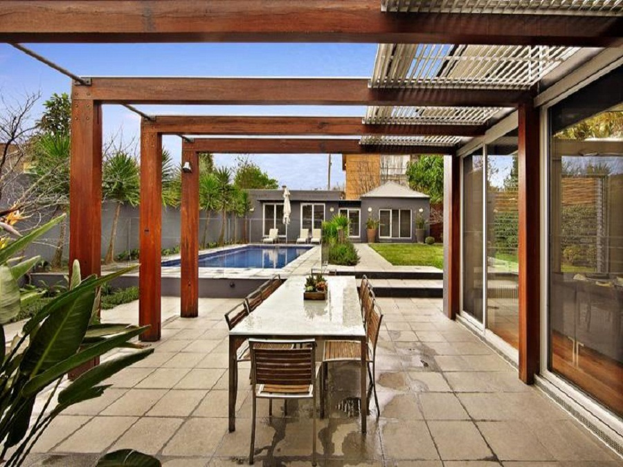 Image of: Pergola Designs Dining