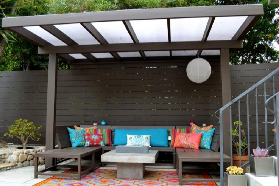 Image of: Pergola Designs Seat