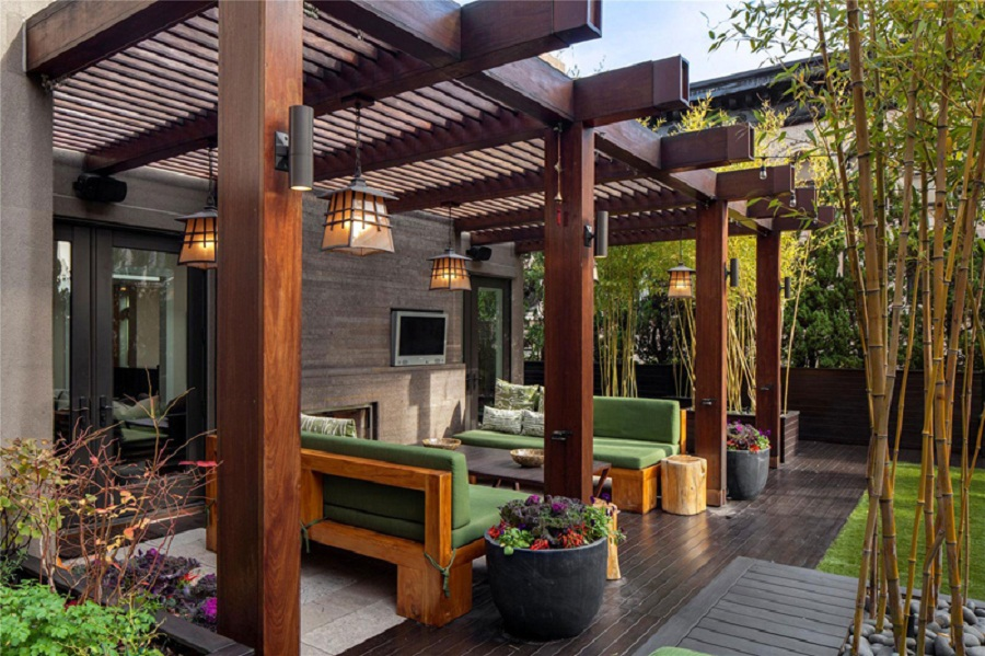 Image of: Pergola Designs Terrace