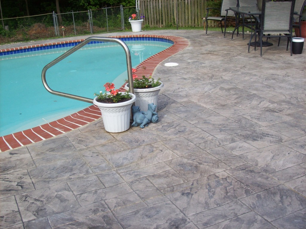 Image of: Picture Of Pool Deck Resurfacing