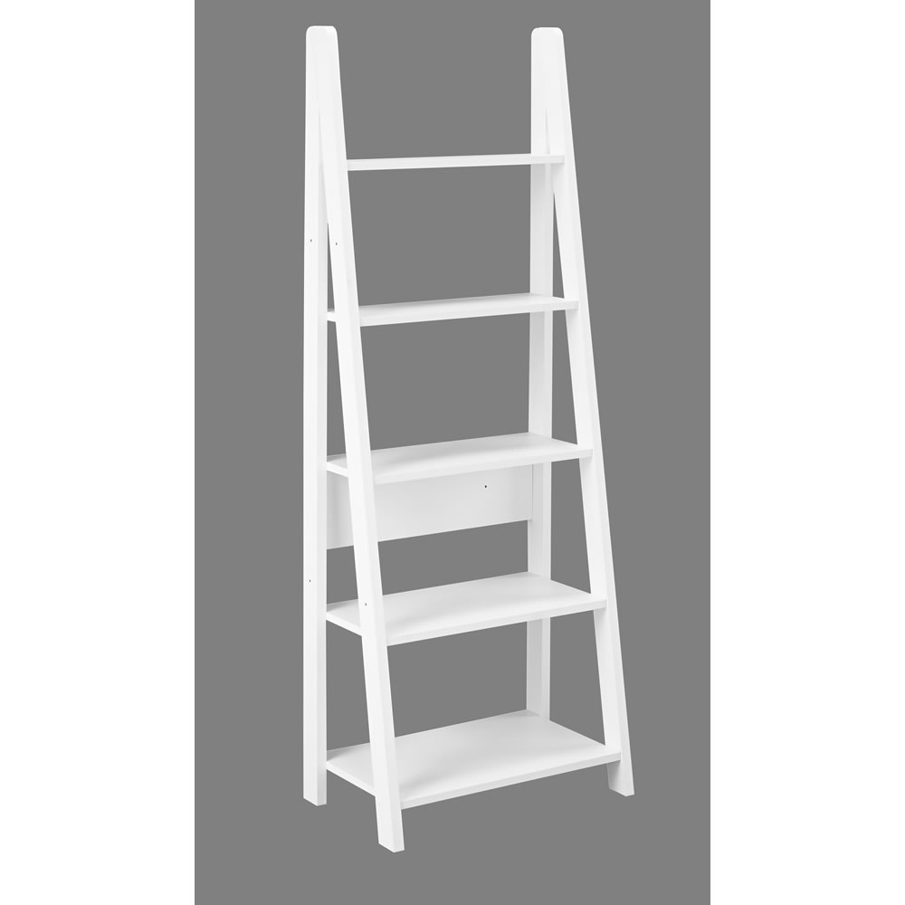 Image of: Picture White Ladder Bookcase 2018