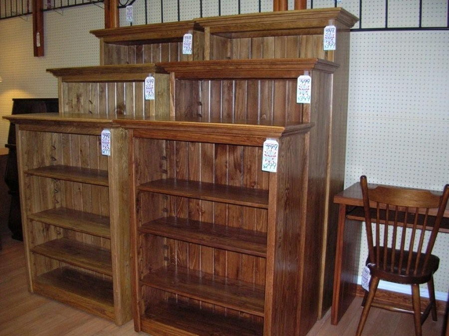 Image of: Pine Bookcase Ideas