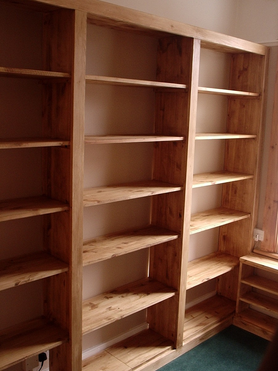 Image of: Pine Bookcase Style