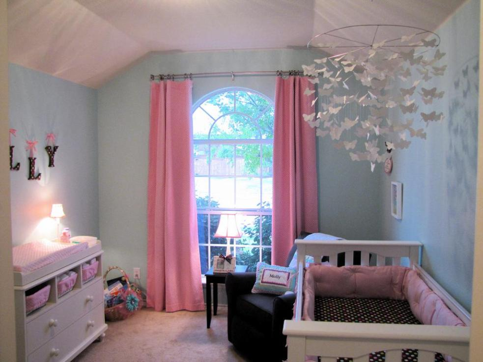 Image of: Pink Blackout Curtains For Kids