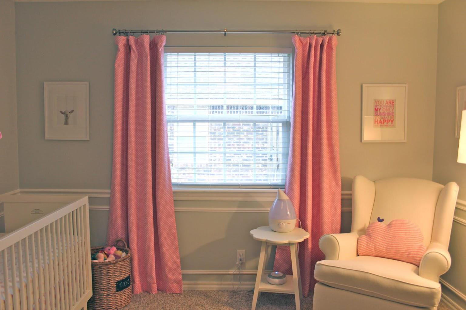 Image of: Pink Curtains Blackout