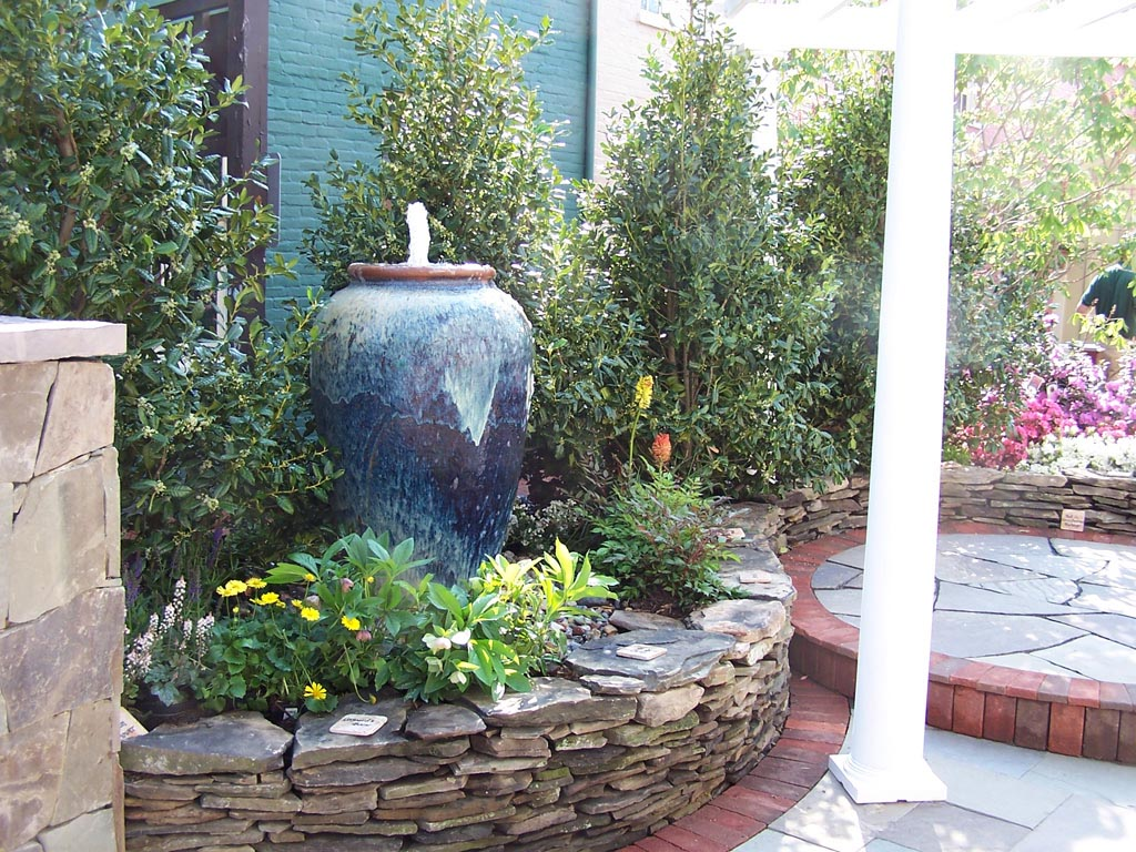 Image of: Plant Water Fountain Pots