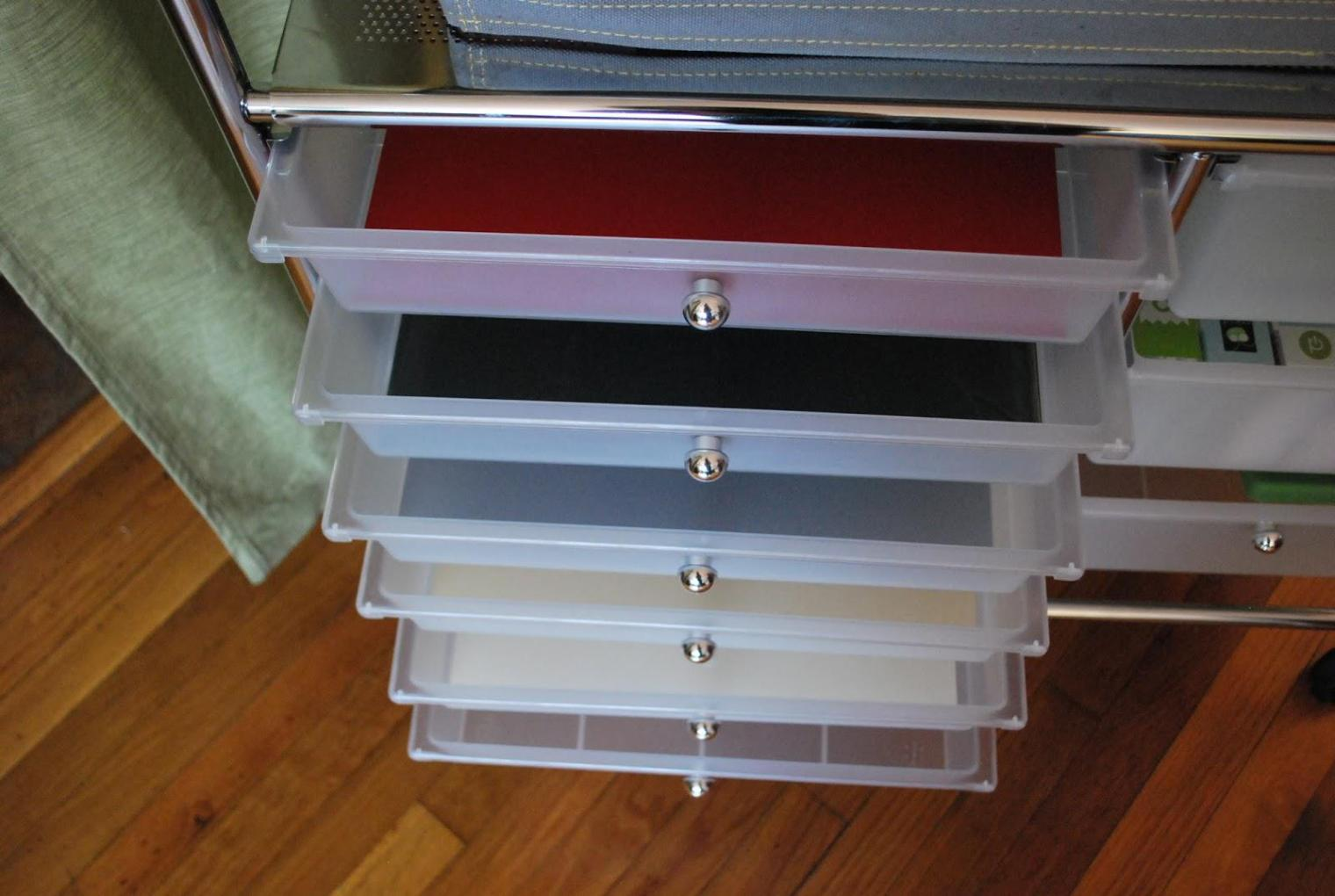 Image of: Plastic Rolling Cart With Drawers