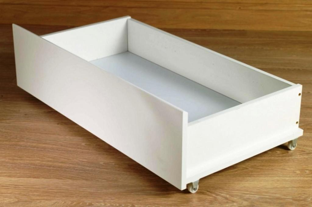 Image of: Plastic Under Bed Storage With Wheels