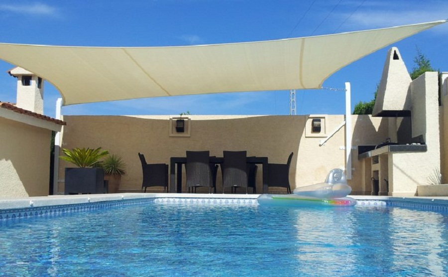 Image of: Pool Awnings Color