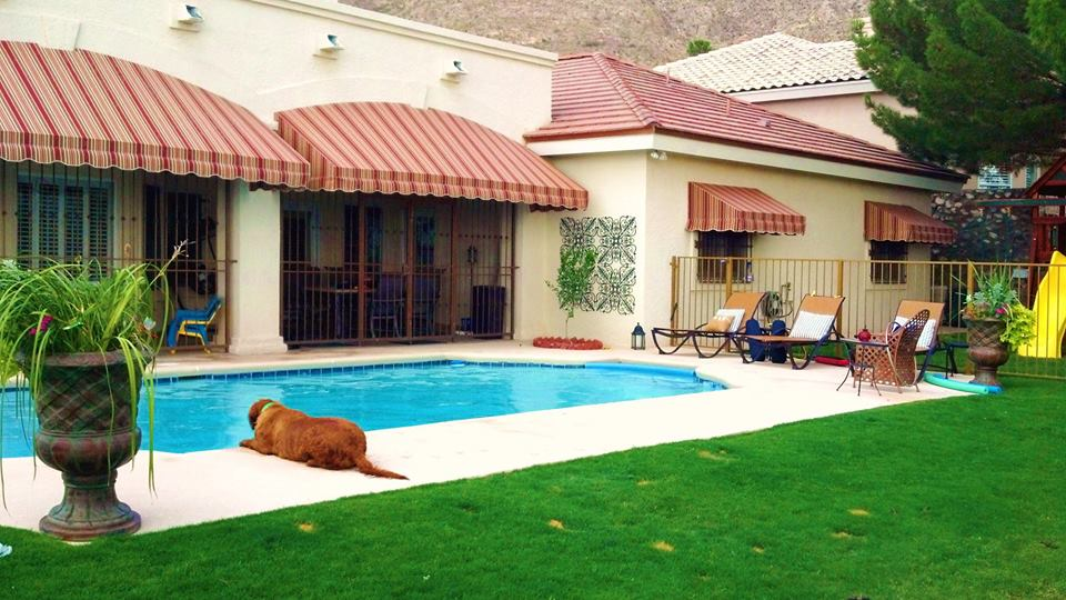 Pool Awnings Stripes
