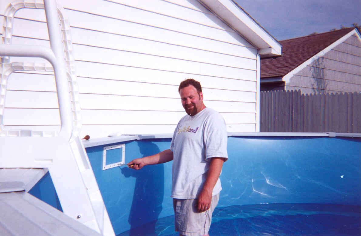 Image of: Pool Skimmer Install