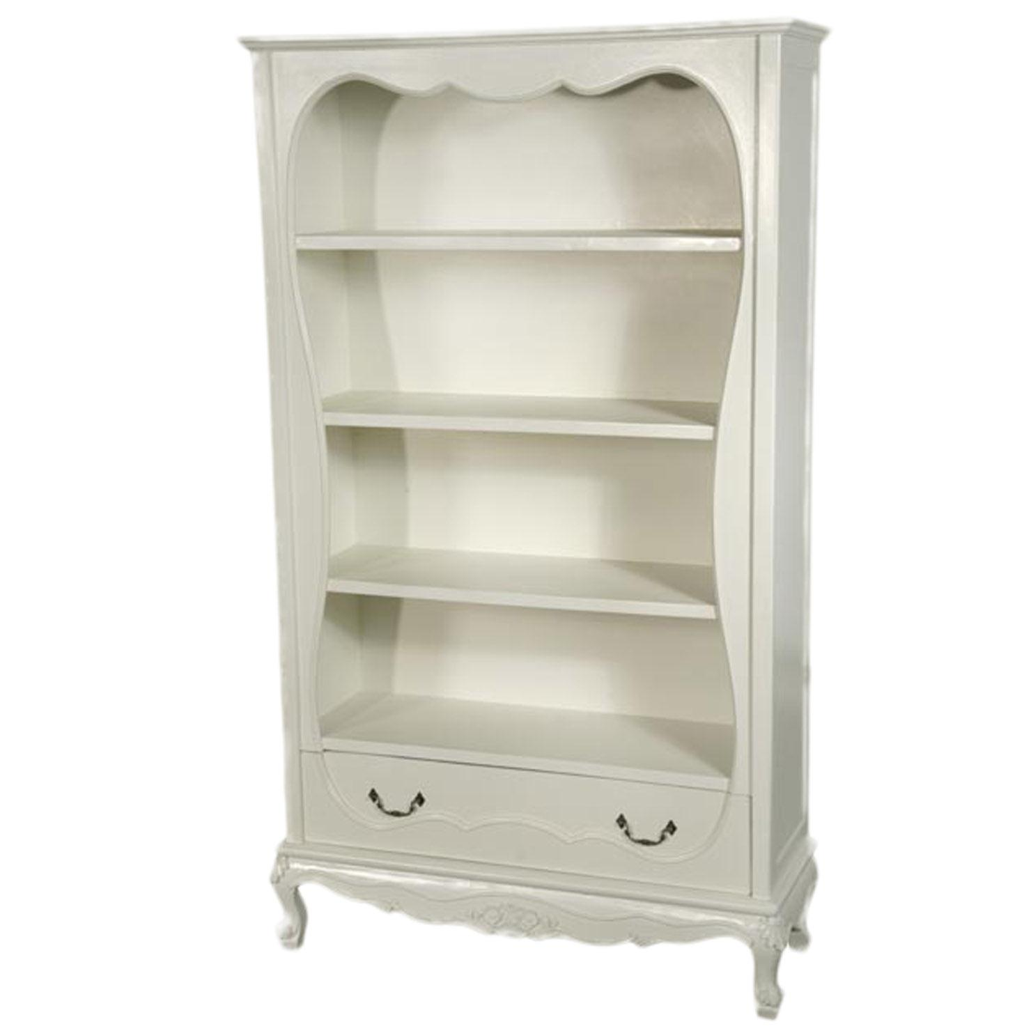 Popular Antique White Bookcase
