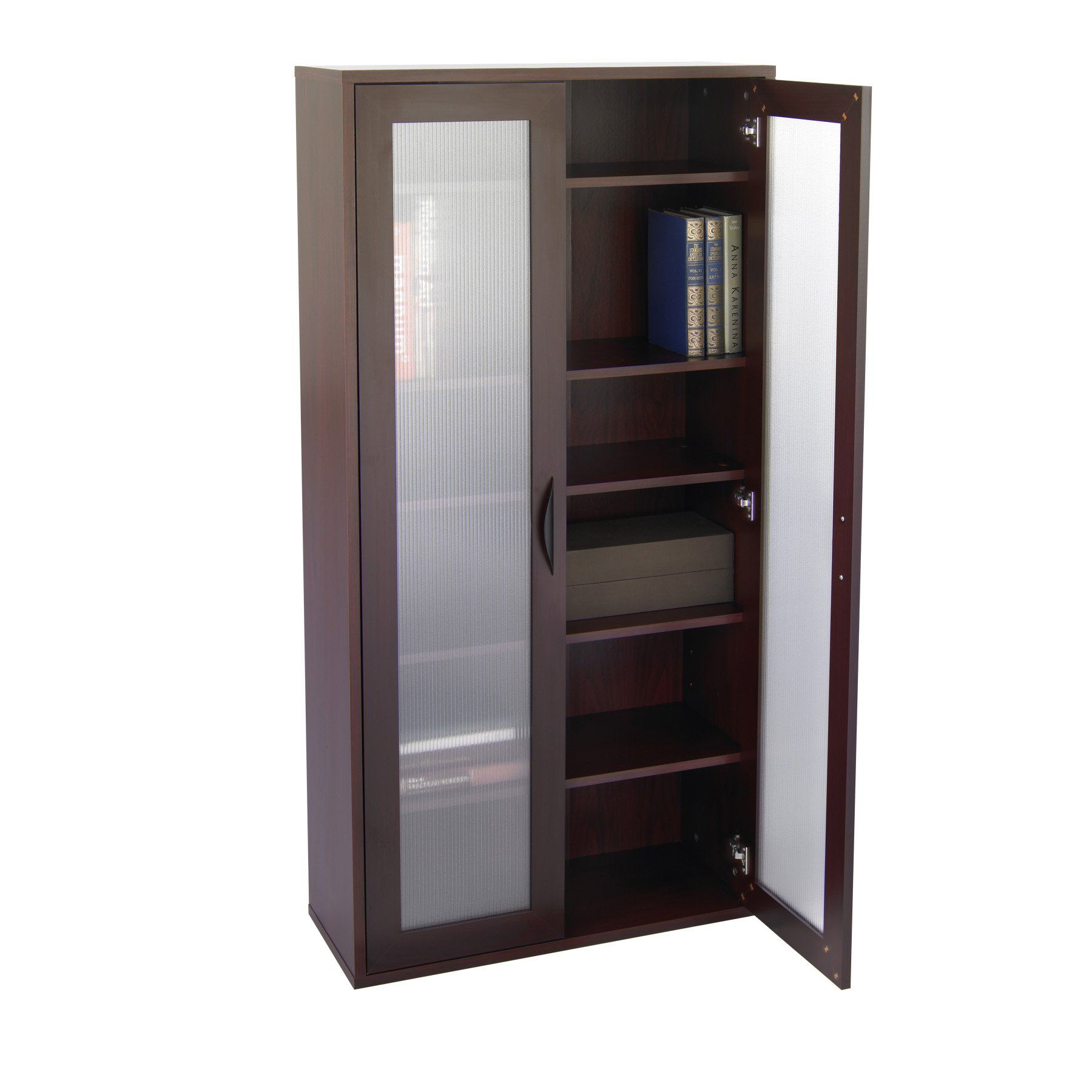Image of: Popular Bookcase With Glass Doors