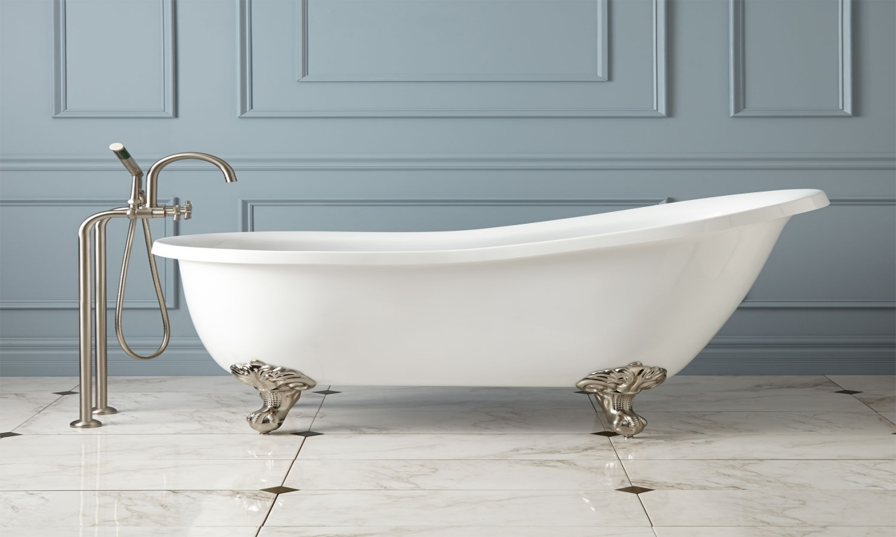 Image of: popular clawfoot tub shower