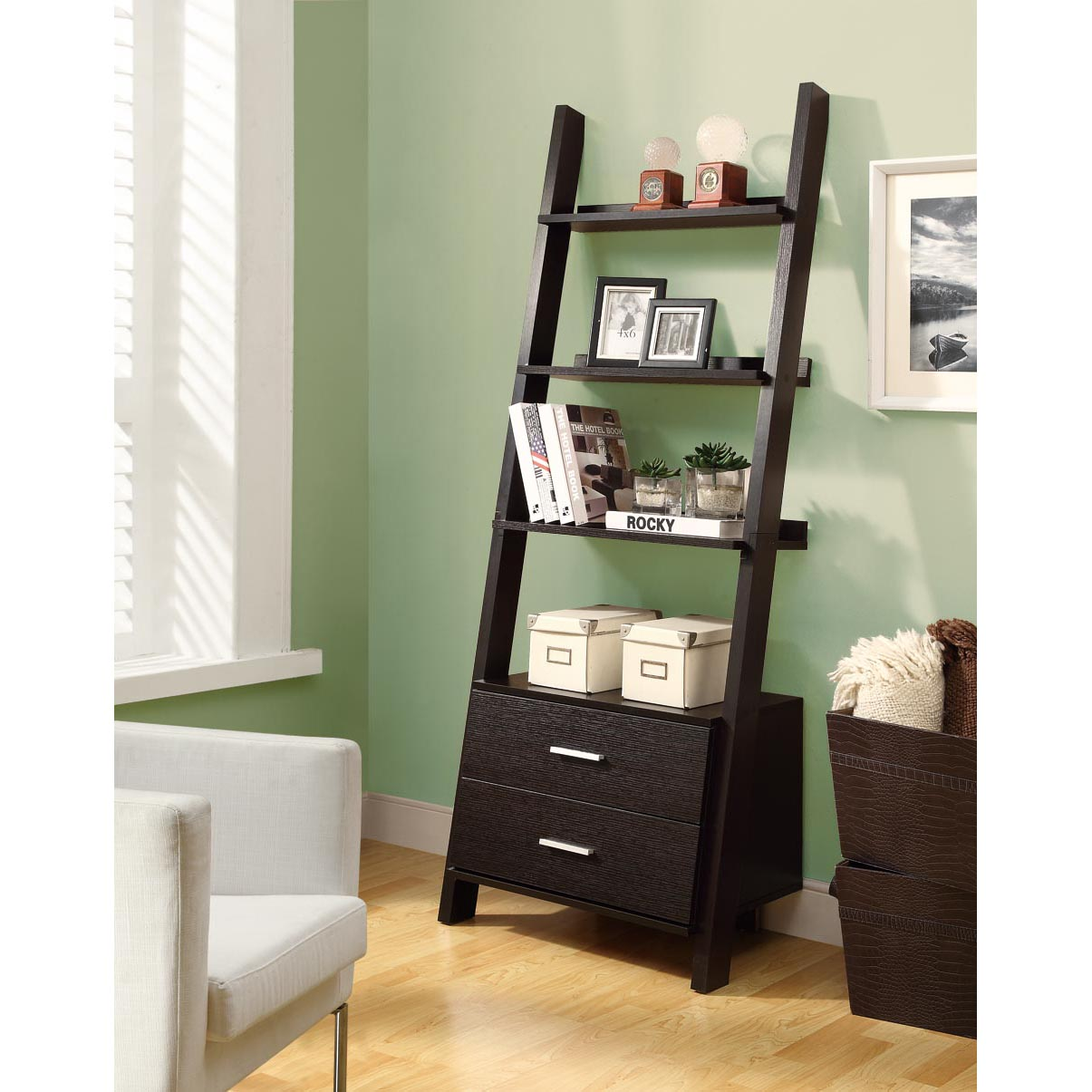 Image of: Popular Ladder Bookcase