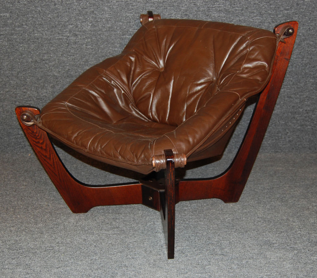 Image of: popular leather sling chair