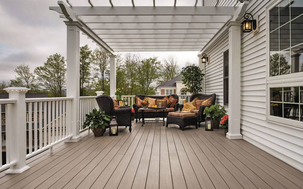 Image of: Popular Pressure Treated Decking