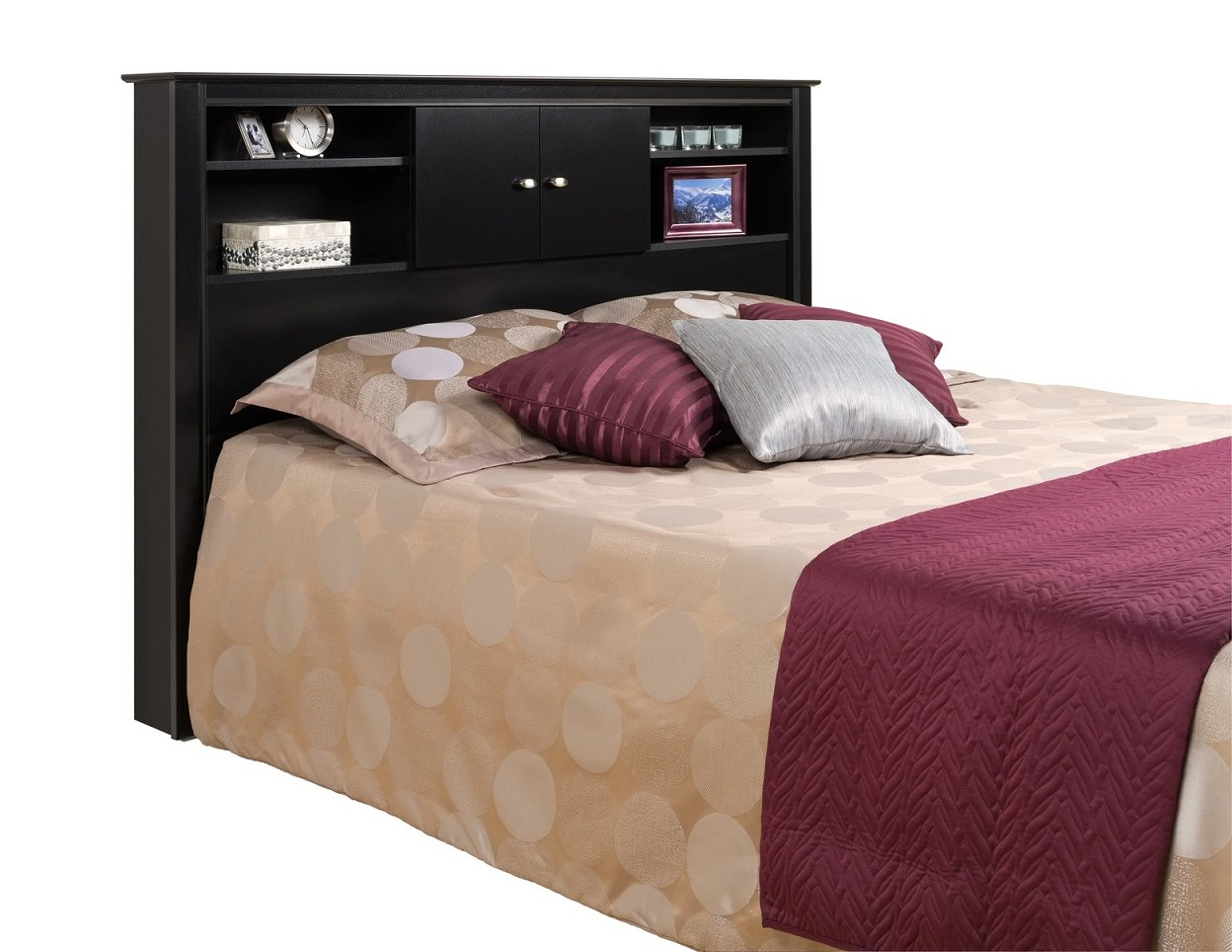 Image of: Popular Queen Bookcase Headboard