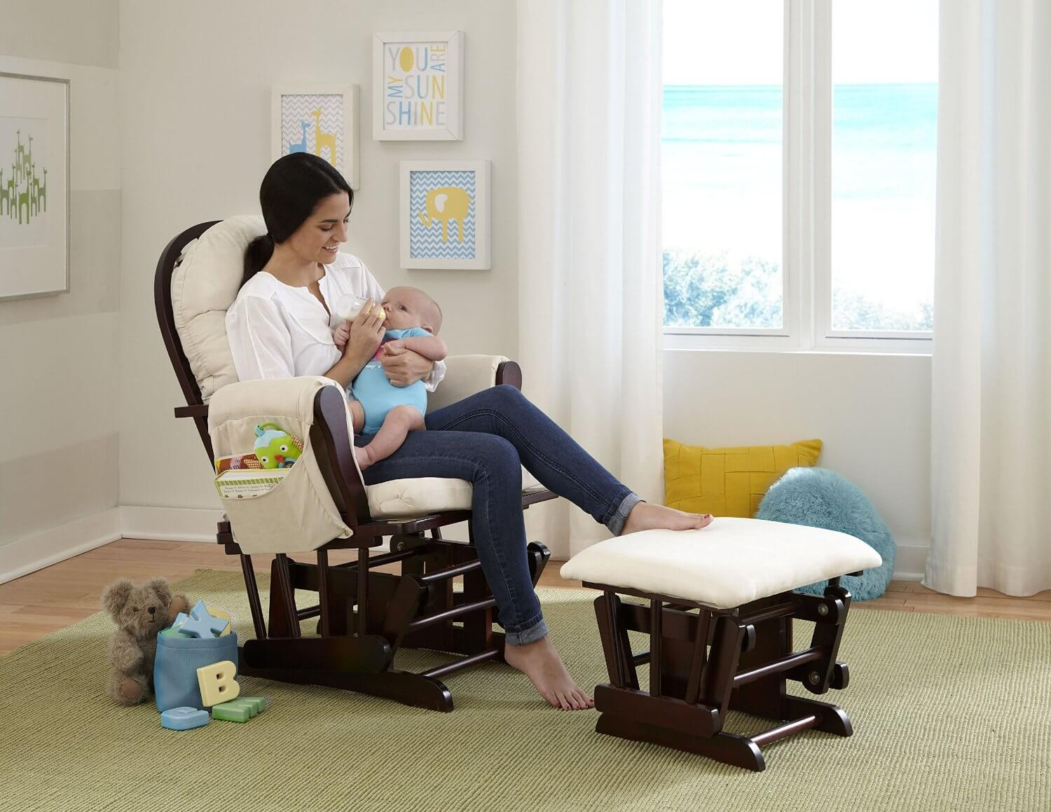 Image of: popular swivel rocking chair design