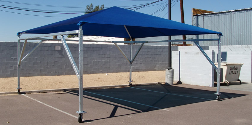 Image of: Portable Awnings Blue