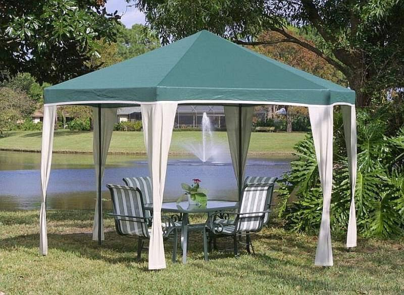 Image of: Portable Awnings Gazebo