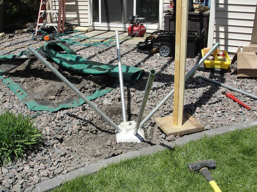 Image of: Precast Deck Footings Diamond