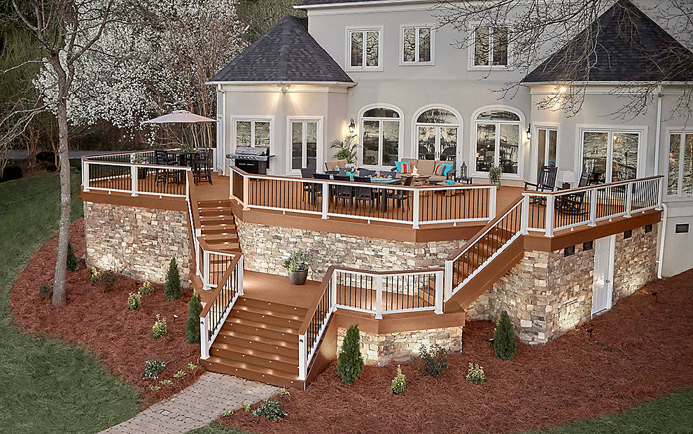 Image of: Premade Deck Railing Home Depot