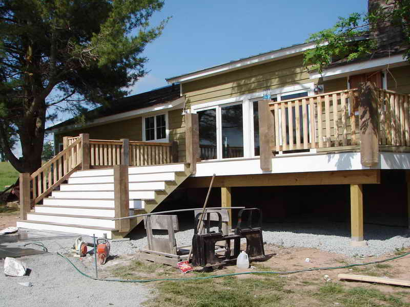 Image of: Premade Deck Stairs