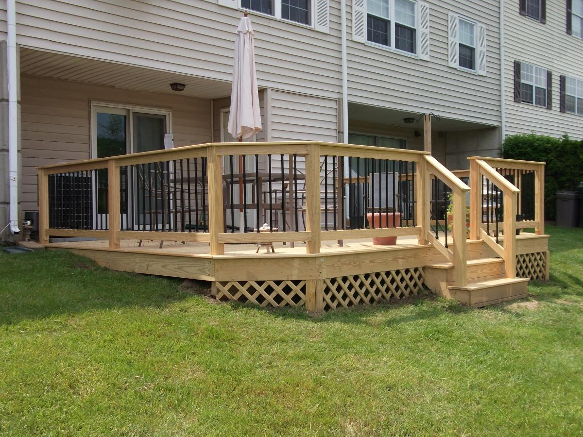 Image of: Pressure Treated Decking Design