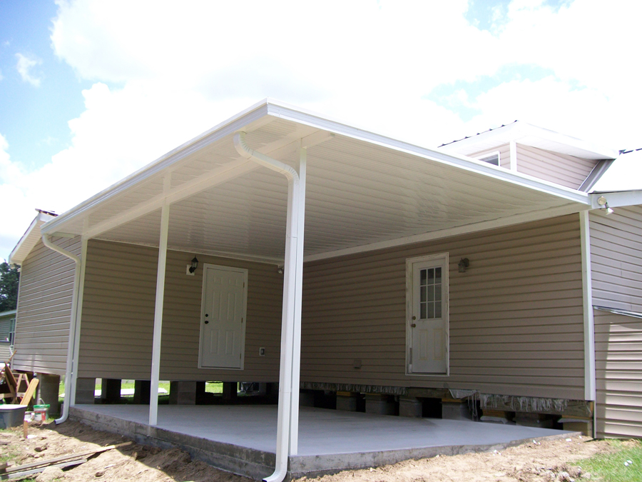 Image of: Pretty Aluminum Awnings for Patios